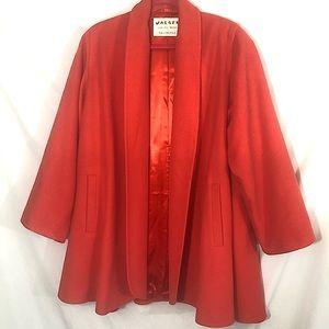 Vintage Jaeger wool cashmere coat medium orange